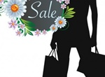 Woman's Fashion Sale Silhouette Poster