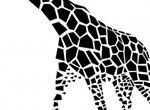Abstract Shapes Giraffe Vector Graphic