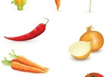 8 Harvest Mixed Vegetables Vector Set