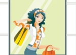 Going Shopping Girl Vector Graphic