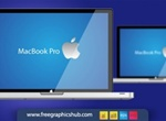 Realistic Mac Book Pro Vector Graphic