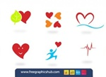 9 Cool Hearts UiVector Elements Set
