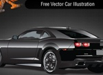Sleek Black Vector Car Illustration