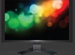 Dark Front View Vector LCD Display Screen