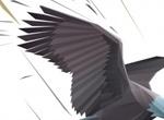 Landing Bald Eagle Vector Graphic