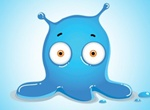 Big Eyed Blue Jelly Monster Graphic