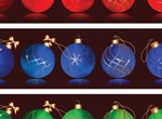 Vector Christmas Ball Ornaments Set