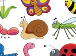 9 Cute Cartoon Insects & Friends Vector Graphics