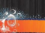 Bold Floral Vector Banner Background
