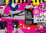Urban City Hip Hop Graffiti Vector Elements