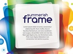Colorful Photo Frame Vector Abstract