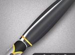 Black Glossy Fountain Pen Vector Graphic