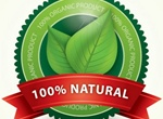 100% Organic Natural Leaf Label