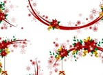 Floral Christmas Wreath Vector Elements
