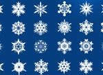 21 Cold Crisp Snowflakes Elements Set PSD