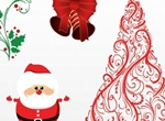 Christmas Santa Vector Elements Set