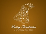 Sparkling Christmas Bell Vector Decoration