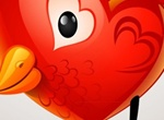 Red Valentines Chick Vector Graphic
