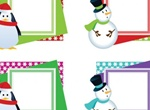 Christmas Photo Frames Vector