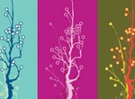 Unique Tri Color Vector Art Trees