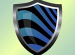 Metal Framed Vector Shield With Stripes