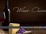 Dark Rich Wine And Cheese Vector