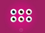 6 Colored Eyeballs With Reflection Vector Set