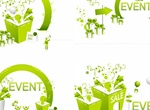 4 Festive Decorated Events Vectors Set
