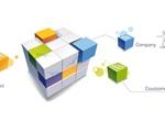 3D Cubes Company Business Concept