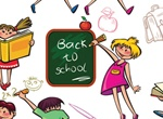 Cartoon Kids Back To School Illustrations