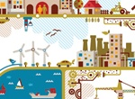City Infographics Vector Background