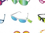 15 Pairs Of Sunglasses Vector Illustration