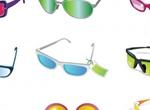 15 Pairs Of Sunglasses Vector Illustration