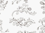 Swirl Floral Decorative Elements Vector Set