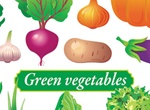 Assortment Of Colorful Vector Vegetables