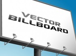 Virtual Advertising Billboard Vector