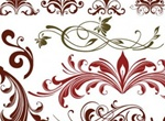 Elegant Floral Flourish Vector Designs Set