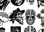 12 Skull Character Vector Illustrations