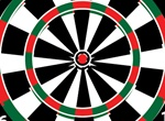 Dartboard Game Vector Graphic