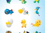60 Cute Cartoon Animals Vector Set