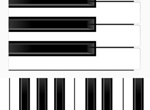 3 Realistic Piano Keyboard Vector Graphics Set