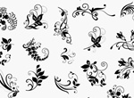 25 Elegant Floral Vector Elements Set