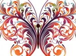 Colorful Abstract Butterfly Vector Graphic