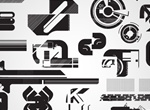 Tech Silhouette Vector Graphics Set