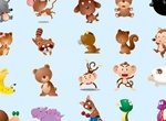 20 Cute Cartoon Animal Mascots Set