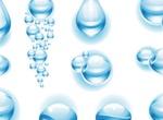 Blue Liquid Vector Water Drops
