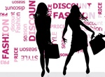 Fashion Shopping Silhouettes Word Cloud