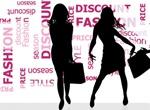 Fashion Shopping Silhouettes Word Cloud