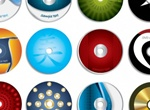 12 Unique Vector CD Labels
