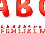 Red Christmas Hat Alphabet Font